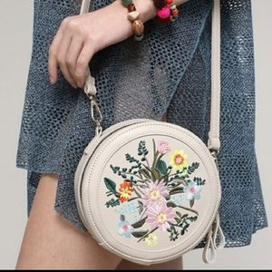 Justin & Taylor embroidered round crossbody bag